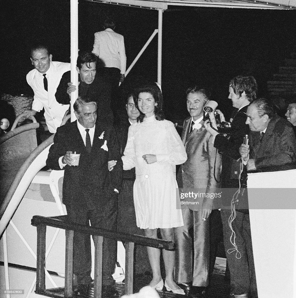 <a gi-track='captionPersonalityLinkClicked' href=/galleries/search?phrase=Jacqueline+Kennedy&family=editorial&specificpeople=70028 ng-click='$event.stopPropagation()'>Jacqueline Kennedy</a> and <a gi-track='captionPersonalityLinkClicked' href=/galleries/search?phrase=Aristotle+Onassis&family=editorial&specificpeople=217821 ng-click='$event.stopPropagation()'>Aristotle Onassis</a> | Location: Skorpios, Greece.