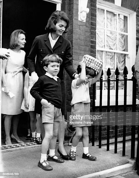 jacqueline kennedy family stock photos and pictures getty images. Black Bedroom Furniture Sets. Home Design Ideas