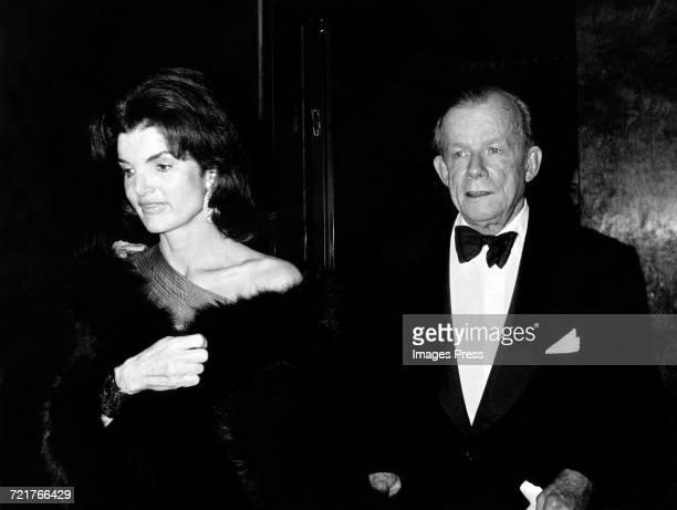 Jacqueline Kennedy Onassis and artist William Walton circa 1976 in New York City