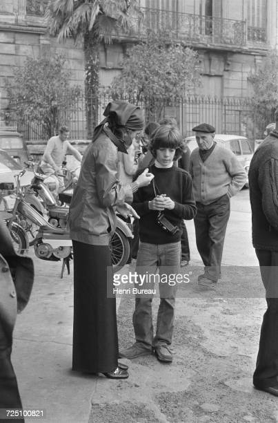 Jacqueline Kennedy Onassis and her son John F Kennedy Jr during a holiday in the Camargue region of southern France 5th November 1973