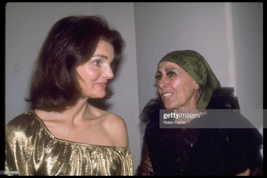 Jacqueline Kennedy Onassis and sculptor Louise Nevelson