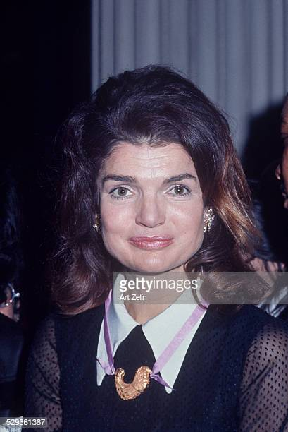 Jacqueline Kennedy Onassis at BedSty RFK tribute circa 1970 New York
