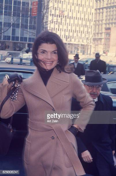 Jacqueline Kennedy Onassis at the court house for the Galella trial 1972 this photo was on the cover of Life magazine