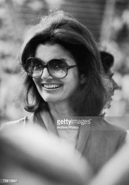 Jacqueline Kennedy Onassis attends the RFK tennis tournament in New York City 26th August 1978
