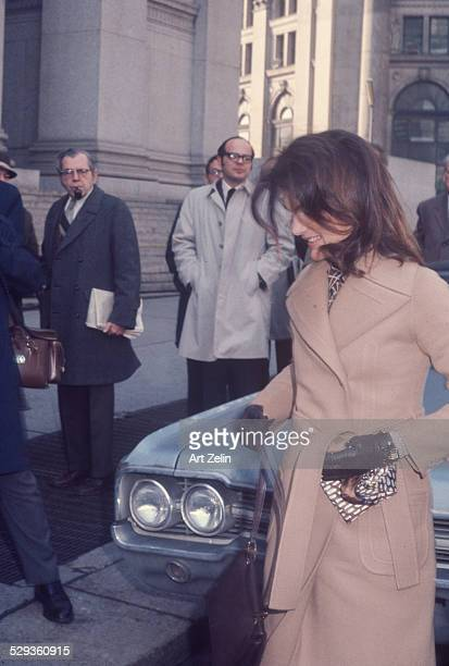 Jacqueline Kennedy Onassis was on cover of Life Magazine coming out of courthouse circa 1970 New York