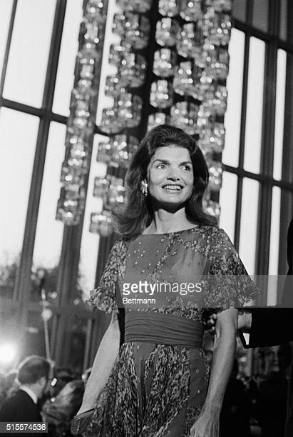 Jacqueline Kennedy Onnasis attends a performance of Leonard Bernstein's Mass conducted by the composer and dedicated to the the memory of President...