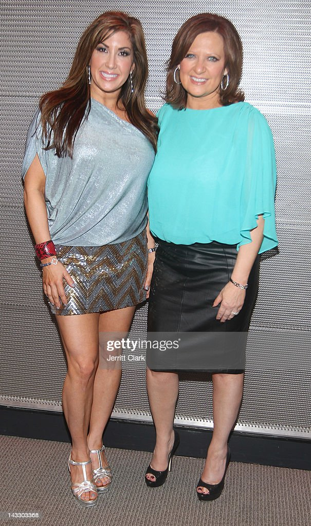 Jacqueline Laurita (L) and Caroline Manzo attend the 'Real Housewives of New Jersey' Season 4 viewing party at The Chandelier Room on April 22, 2012 in Hoboken, New Jersey.