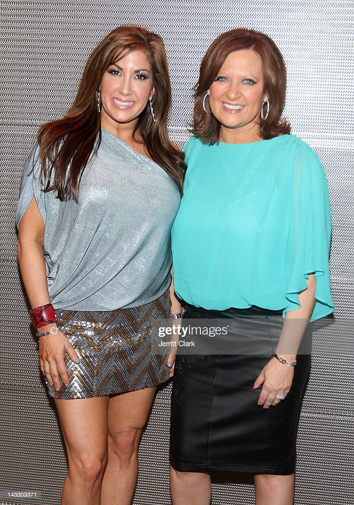 Jacqueline Laurita (L) and <a gi-track='captionPersonalityLinkClicked' href=/galleries/search?phrase=Caroline+Manzo&family=editorial&specificpeople=5841102 ng-click='$event.stopPropagation()'>Caroline Manzo</a> attend the 'Real Housewives of New Jersey' Season 4 viewing party at The Chandelier Room on April 22, 2012 in Hoboken, New Jersey.