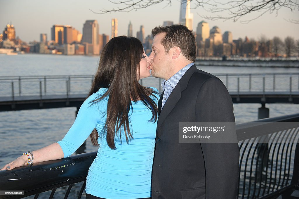 Jacqueline Laurita and Chris Laurita attend 'Little Town NJ' Restaurant Opening Hosted By The Manzo Brothers at Little Town NJ Restaurant on April 9, 2013 in Hoboken, New Jersey.