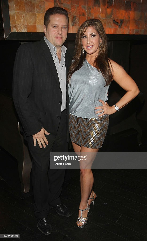 Jacqueline Laurita and husband Chris Laurita attend the 'Real Housewives of New Jersey' Season 4 viewing party at The Chandelier Room on April 22, 2012 in Hoboken, New Jersey.