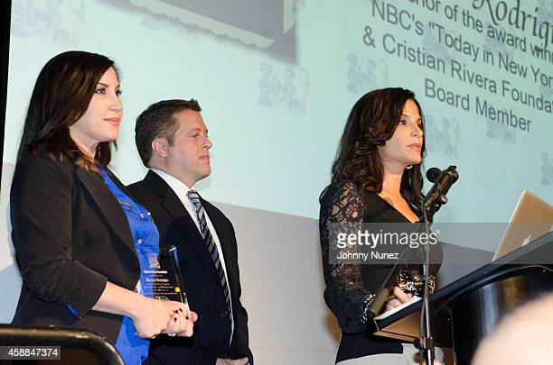Jacqueline Laurita Chris Laurita and Darlene Rodriguez attend the 6th Annual Christian Rivera Foundation Gala at Broad Street Ballroom on November 11...