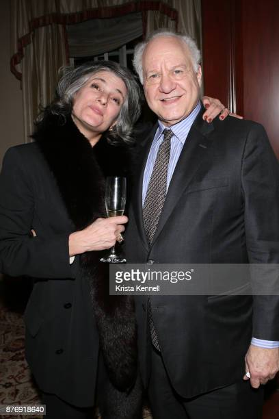 Jacqueline LeDonne and Steve Schutzer attend Martin Shafiroff and Jean Shafiroff Host Thanksgiving Cocktails for NYC Mission Society at Private...