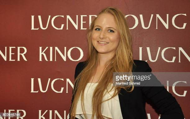 Jacqueline Lugner poses during the 'Wish Upon' premiere in Vienna at Lugner Lounge Kino on July 25 2017 in Vienna Austria