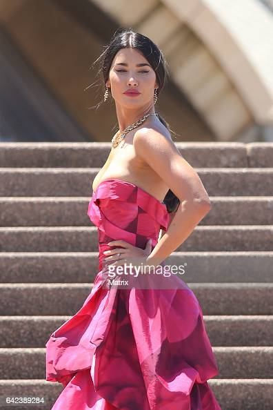 Jacqueline MacInnes Wood is seen filming The Bold and the Beautiful at the Sydney Opera House on February 13 2017 in Sydney Australia