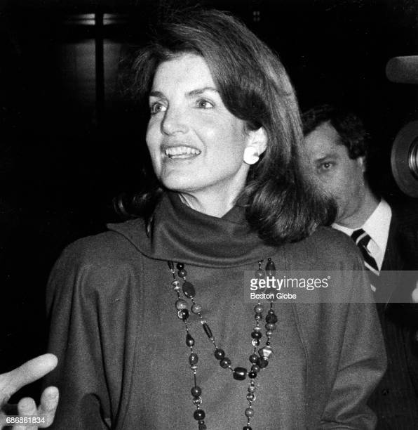 Jacqueline Onassis Kennedy at the John F Kennedy Presidential Library and Museum in Boston on Dec 5 1983