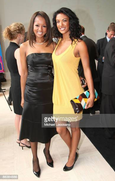 Jacqueline Page and Tia Alexander attend the Duke Of Edinburgh's Award Luncheon hosted by Carte Blanche International at the Steven Weiss Studio on...