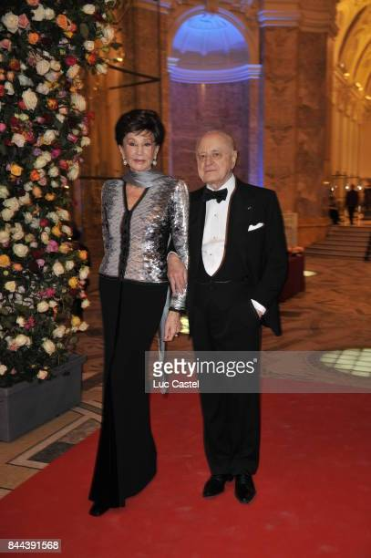 Jacqueline Ribes and Pierre Berge attend an Yves SaintLaurent event at Petit Palais on March 09 2010 in Paris France