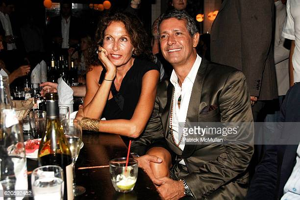 Jacqueline Schnabel and Carlos Souza attend Private Dinner hosted by CARLOS JEREISSATI CEO of IGUATEMI at Pastis on September 6 2008 in New York City