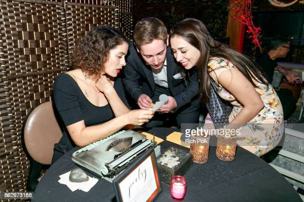 Jacqueline Suskin of Poem Store speaks with guests at An Evening With Rhonda's Kiss Charity at Beauty Essex on October 18 2017 in Los Angeles...