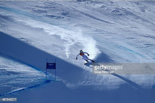 Jacqueline Wiles of the United States descends the course during training for the Alpine Skiing Women's Downhill ahead of the Sochi 2014 Winter...