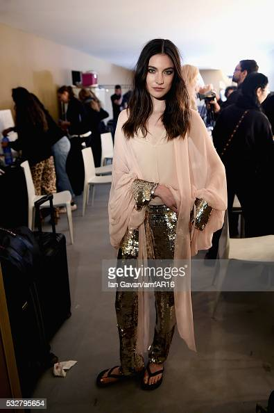 Jacquelyn Jablonski prepares backstage at the amfAR's 23rd Cinema Against AIDS Gala at Hotel du CapEdenRoc on May 19 2016 in Cap d'Antibes France