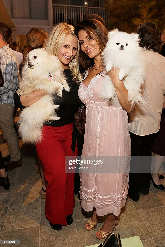 Jacquelyn Khanich, Dazza Brigitte and Prince Charming attend the Julian Lennon 'Everything Changes' CD release party at Sunset Marquis Morrison Hotel Gallery on June 14, 2013 in West Hollywood, California.