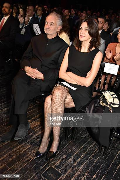 Jacques Attali and Helena Noguerra attend the 'Positive Awards' Ceremony at La Gaiete Lyrique on December 7 2015 in Paris France