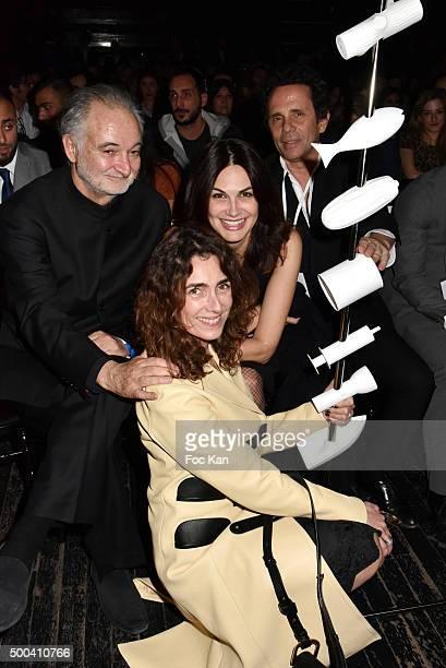 Jacques Attali Mademoiselle Agnes Helena Noguerra and PR Gerald Cohen attend the 'Positive Awards' Ceremony at La Gaiete Lyrique on December 7 2015...