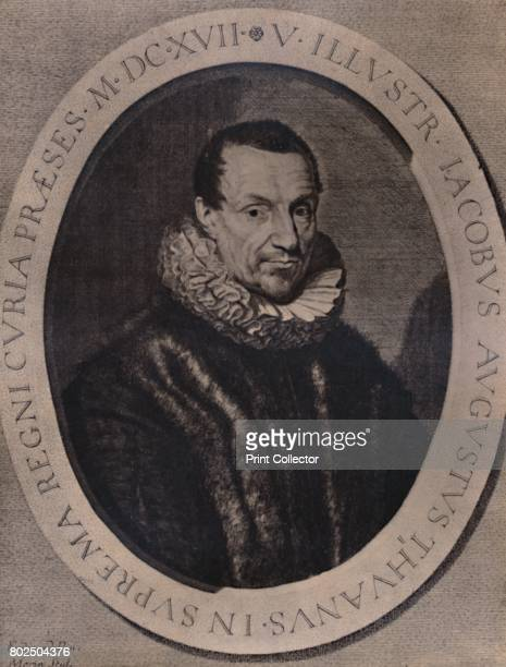 Jacques Auguste de Thou French historian and book collector 17th century From A Collection of Engraved Portraits Exhibited by the Late James Anderson...