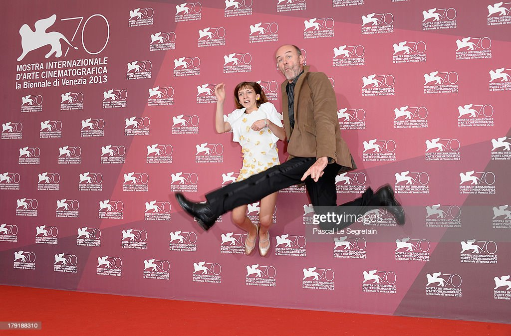 Jacques Bonaffe and Lou-Lélia Demerliac attend 'Je M'Appelle Hmmm...' Photocall during the 70th Venice International Film Festival at the Palazzo Del Casino on September 1, 2013 in Venice, Italy.