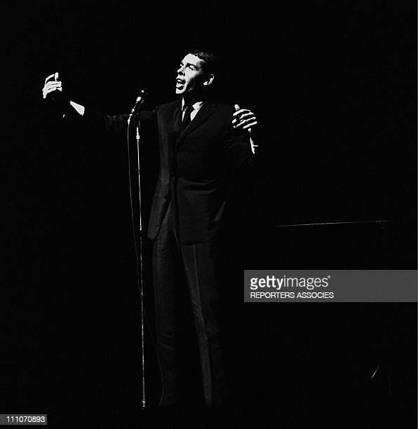 Jacques Brel at the Olympia in Paris France on Octorber 16 1964