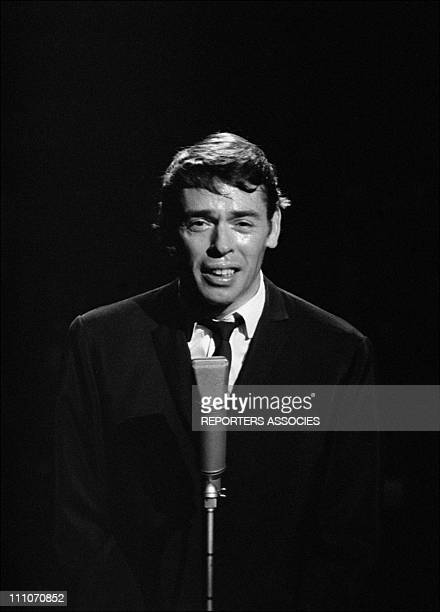 Jacques Brel at the ' Palmares des Chansons' at the Olympia in Paris France on November 10 1966 at the Olympia in Paris France on November 10 1966