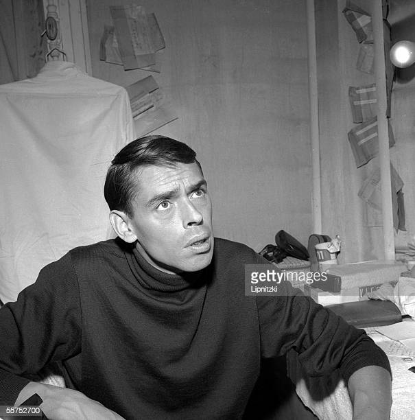 Jacques Brel composersongwriter and Belgian singer Paris Olympia in October 1961 LIP30056060