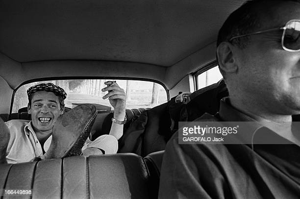 Jacques Brel Gives Up His Career Jacques BREL en voiture avec chauffeur pour l' Olympia où il va donner sa dernière série de récitals à Paris...