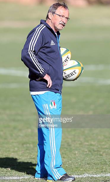 Jacques Brunel Head Coach of Italy during the Italy training session at Northwood School on June 10 2013 in Durban South Africa