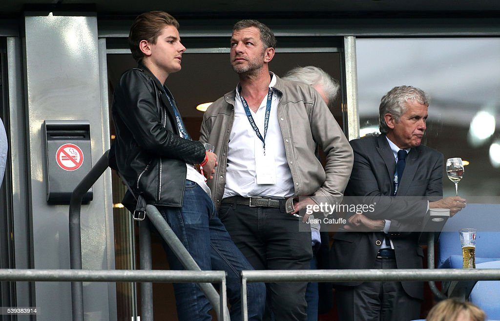 Jacques Bungert (Courreges) and Claude Serillon attend the UEFA Euro 2016 Group A opening match between France and Romania at Stade de France on June 10, 2016 in Saint-Denis near Paris, France.