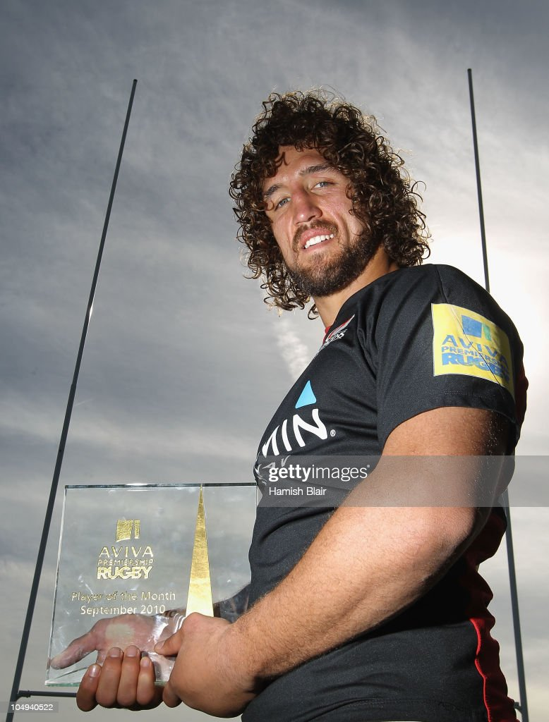 Jacques Burger of Saracens was named the Aviva Premiership Rugby Player of the Month for September He was presented the award at the Saracens...