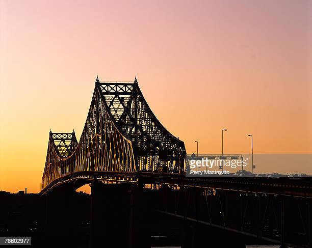 Jacques Cartier Bridge at sunset, Montreal, Quebec, Canada