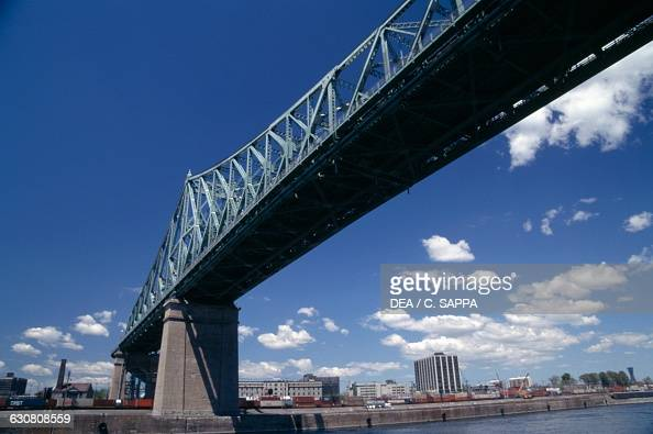Jacques Cartier Bridge crossing the St Lawrence River 19301934 architect Philip Louis Pratley Montreal Quebec Canada 20th century