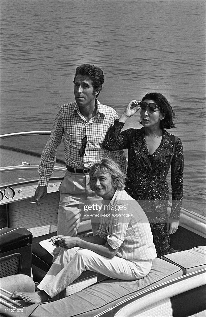 Jacques Chazot, Juliette Greco, Francoise Sagan in France on July 15, 1966.