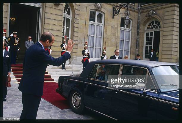 Jacques Chirac and Margaret Thatcher After Signing an Agreement for Work on the Channel Tunnel