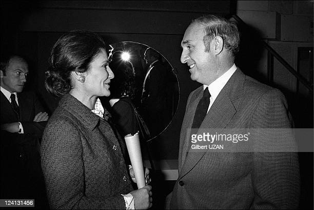Jacques Chirac and Simone Veil leaving the council of ministers in Paris France on November 18 1974 Simone Veil and Lucien Neuwirth