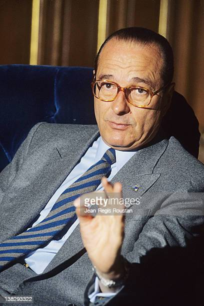 Jacques Chirac French poltician Paris city hall on February 27 1986