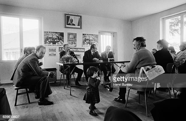 Jacques Chirac in Correze during his campaign for parliamentary elections