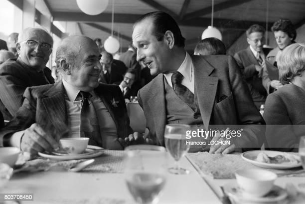 Jacques Chirac lors d'un déjeuner à Epernay le 15 octobre 1976 en France