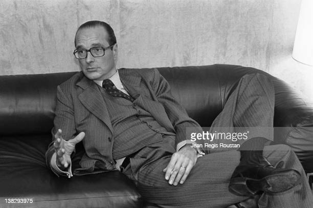 Jacques Chirac mayor of Paris during an interview Paris on February 8 1978