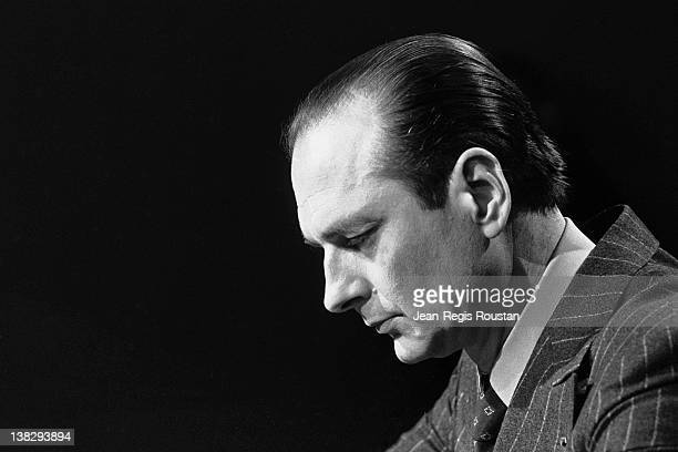 Jacques Chirac mayor of Paris during the 'Cartes sur table' TV program on February 8 1978
