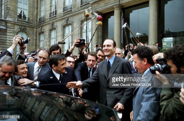 Jacques Chirac the first Minister oF VGE in Paris France on May 27 1974