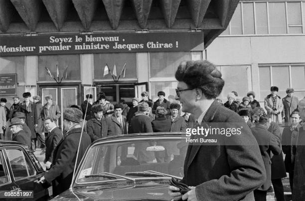 Jacques Chirac the French Prime Minister arriving at Irkutsk Russia 24th March 1975