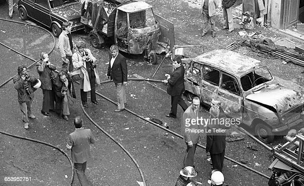 Jacques Chirac the Mayor of Paris after the car bombing on Marbeuf Street Paris France 04/1982 France